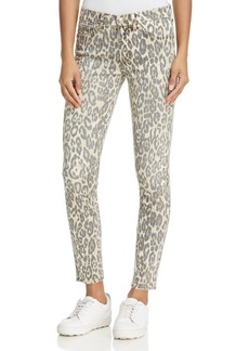 7 For All Mankind Skinny Ankle Jeans in Cheetah Print