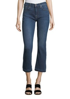 7 For All Mankind Skinny Boot-Cut Released Jeans