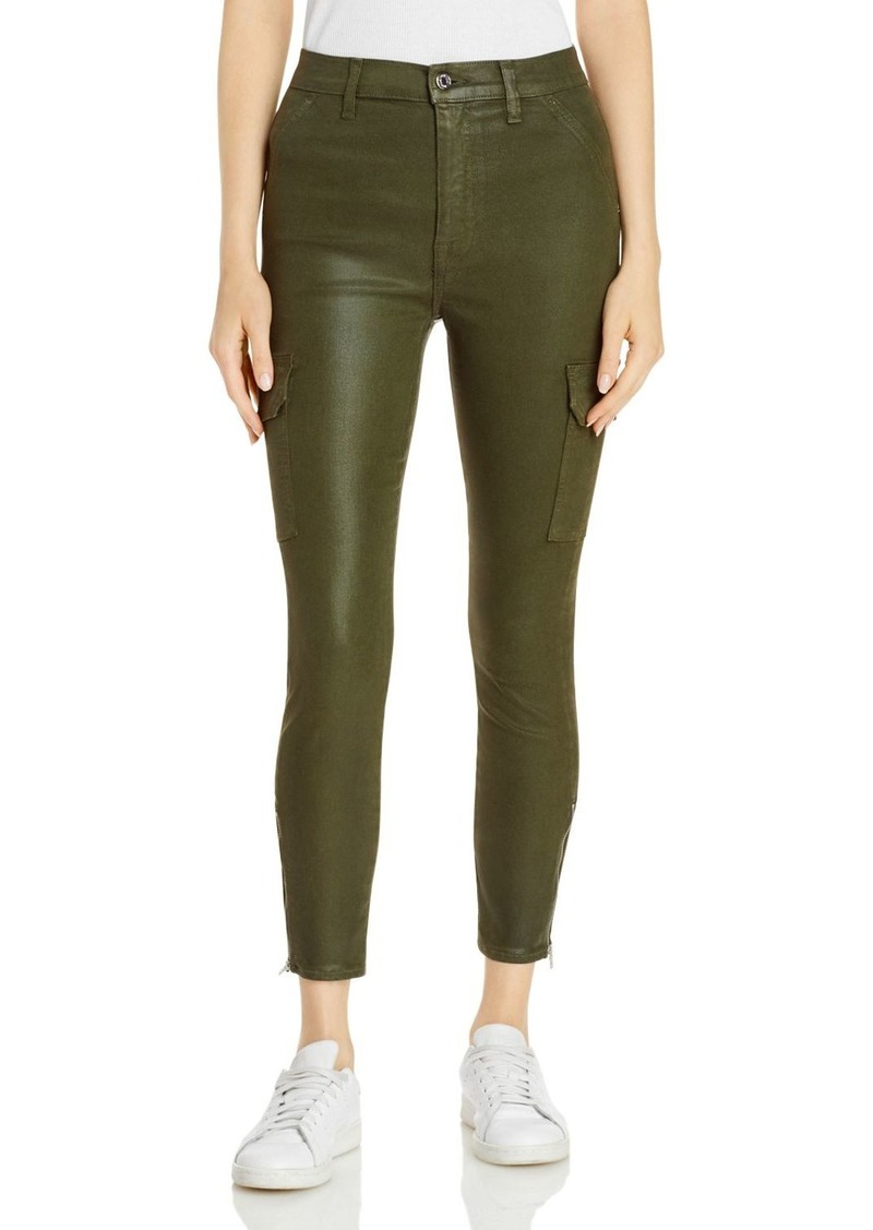 7 For All Mankind Skinny Coated Cargo Jeans