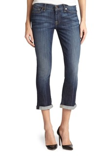 7 For All Mankind Skinny Crop & Roll Jeans