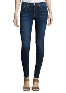 7 For All Mankind Skinny Dark-Wash Cropped Jeans