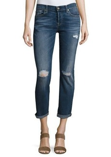 7 For All Mankind Skinny Distressed Boyfriend Jeans