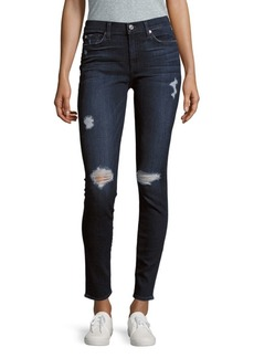 7 For All Mankind Skinny-Fit Distressed Jeans