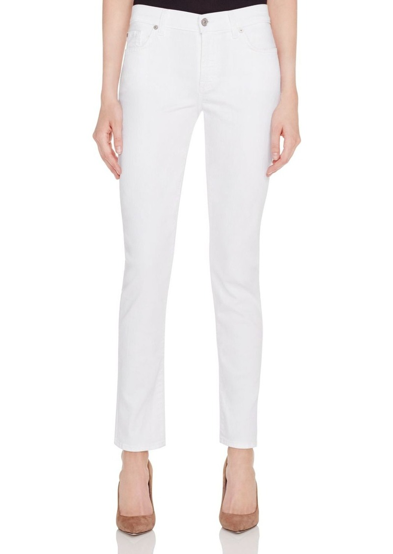 7 For All Mankind Skinny Jeans in White Twill - 100% Exclusive