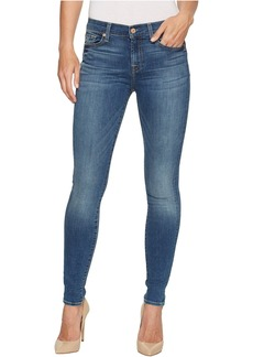 7 For All Mankind Skinny Jeans w/ Squiggle in Rich Coastal Blue