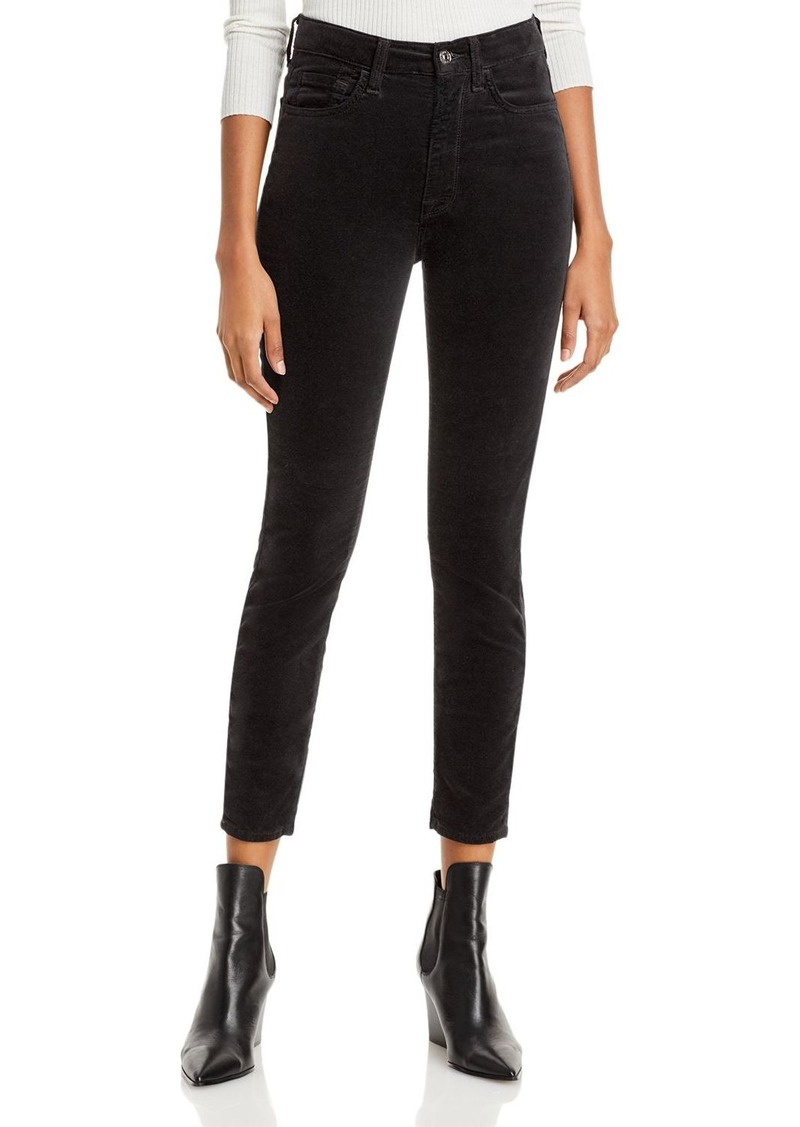7 For All Mankind Skinny Velvet Ankle Jeans