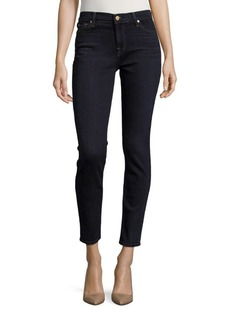 7 For All Mankind Skinny With Squiggle Ankle-Length Jeans