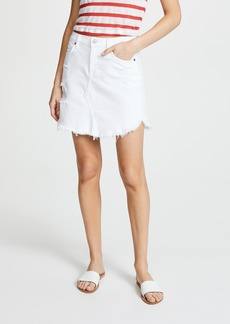 7 For All Mankind Skirt with Frayed Hem