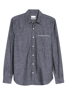 7 For All Mankind® Slim Fit Hidden Pocket Selvedge Button-Up Chambray Shirt