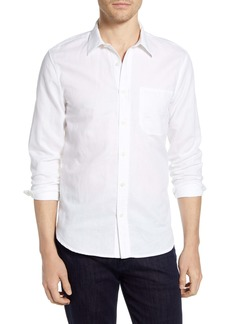 7 For All Mankind® Slim Fit Linen Blend Button-Up Shirt