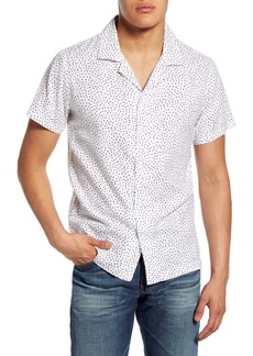 7 For All Mankind® Slim Fit Short Sleeve Button-Up Camp Shirt