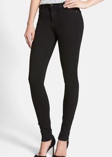 7 For All Mankind® 'Slim Illusion Luxe' High Waist Skinny Jeans (Black)