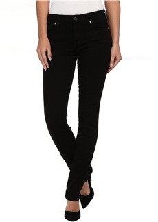7 For All Mankind Slim Illusion LUXE Kimmie Straight in Slim Illusion Luxe Black