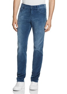 7 For All Mankind Slimmy Slim Fit Corduroy Pants in Blue - 100% Exclusive