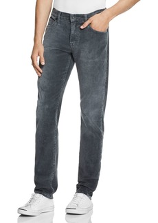 7 For All Mankind Slimmy Slim Fit Corduroy Pants in Gray