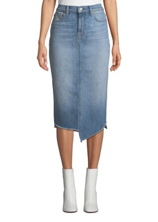 7 For All Mankind Spliced Denim Pencil Skirt