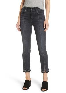 7 For All Mankind® Split Hem Ankle Skinny Jeans (Vintage Noir)