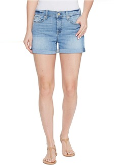 7 For All Mankind Squiggle Roll Up Shorts in Willow Ridge