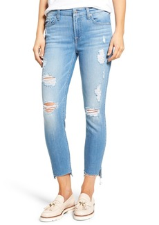 7 For All Mankind® Step Hem Ankle Skinny Jeans (Melbourne Sky)