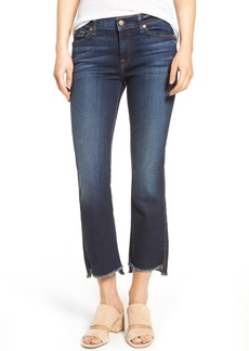 7 For All Mankind® Step Hem Crop Bootcut Jeans (Dark Paradise)