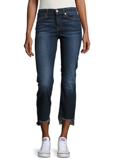 7 For All Mankind Step Hem Cropped Bootcut Jeans