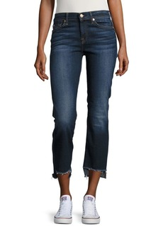 7 For All Mankind Step Hem Cropped Jean