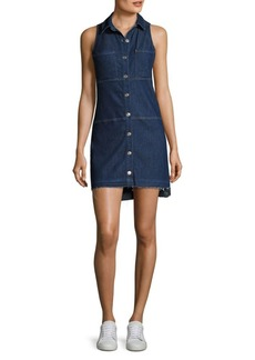 7 For All Mankind Step Hem Denim Shirtdress