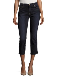 7 For All Mankind Straight Ankle Jeans
