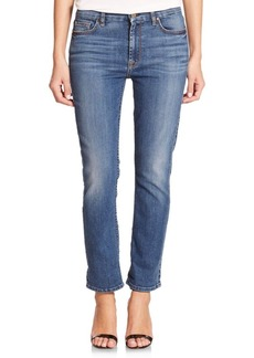 7 For All Mankind Straight Cropped Boyfriend Jeans