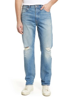 7 For All Mankind® Straight Leg Ripped Jeans (Canal)