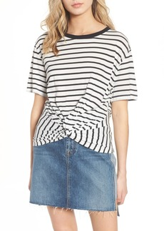 7 For All Mankind® Stripe Knotted Tee