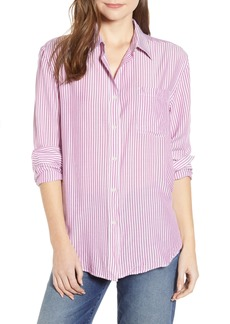 7 For All Mankind® Stripe Tie Front Shirt