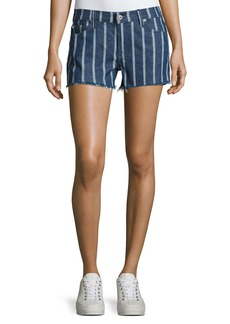 7 For All Mankind Striped Denim Cutoff Shorts