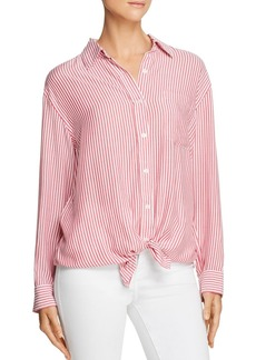 7 For All Mankind Striped High/Low Shirt