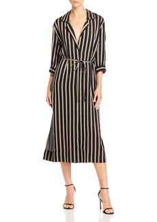 7 For All Mankind Striped Midi Dress