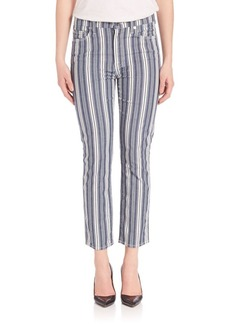 7 For All Mankind Striped Straight Ankle Pants