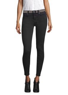 Studded Ankle Skinny Jeans