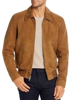 7 For All Mankind Suede Regular Fit Blouson Jacket