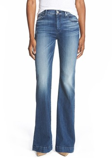 7 For All Mankind® 'Tailorless - Dojo' Wide Leg Jeans (Lake Blue) (Short)