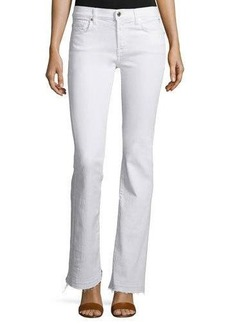 7 For All Mankind Tailorless Boot-Cut Jeans W/Released Hem (Shorter Inseam)