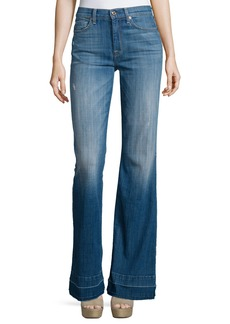 7 For All Mankind Tailorless Ginger Flare-Leg Released-Hem Jeans