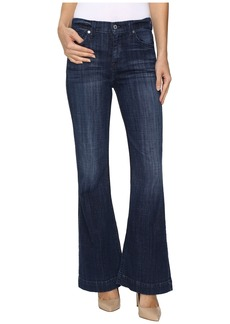 7 For All Mankind Tailorless Ginger in Bordeaux Broken Twill