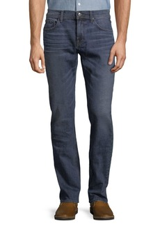 7 For All Mankind Tapered Straight-Fit Whiskered Jeans