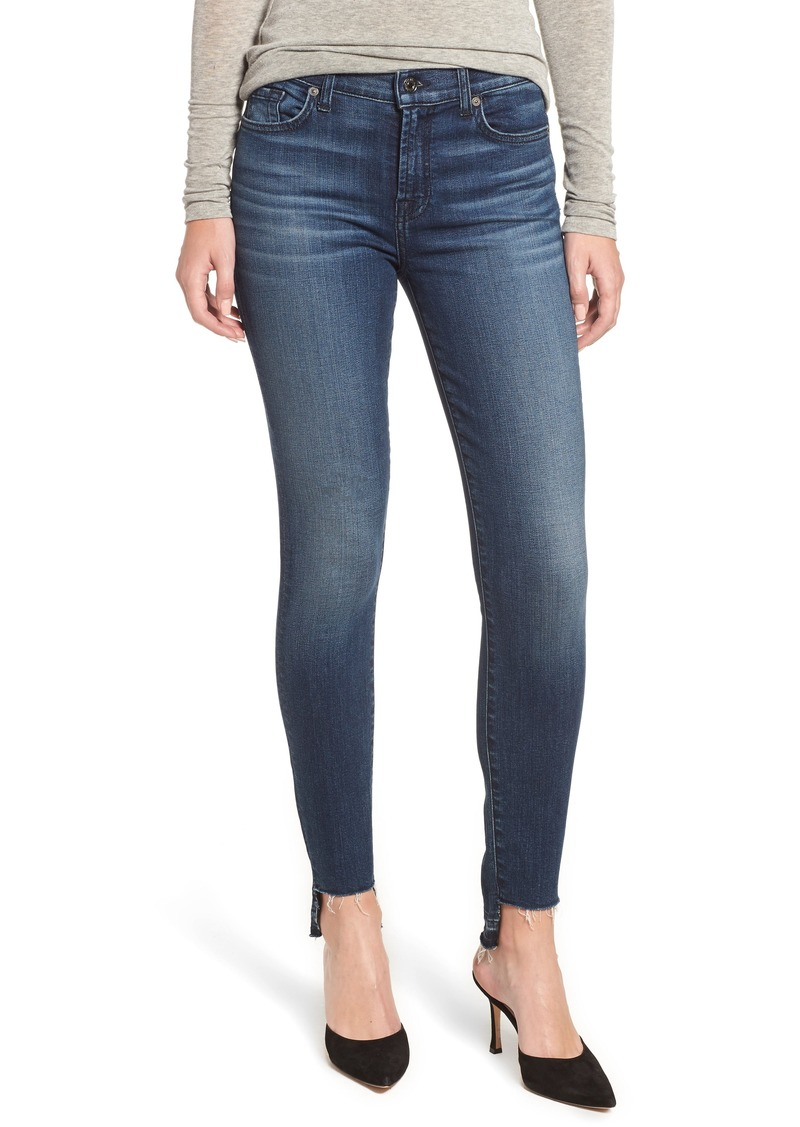 7 For All Mankind® The Ankle Release Step Hem Skinny Jeans (Authentic Chance)