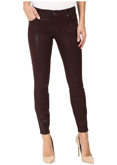 7 For All Mankind The Ankle Skinny in Plum