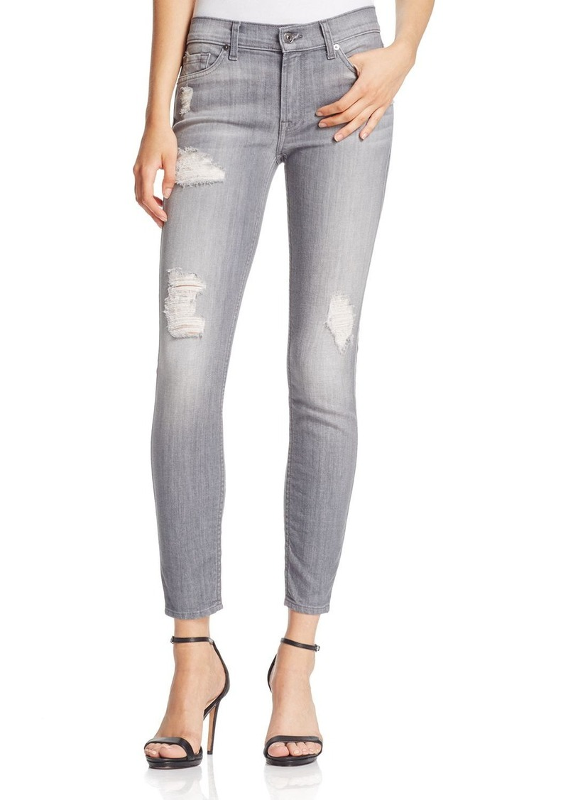7 For All Mankind The Ankle Skinny Jeans in London Grey Skies