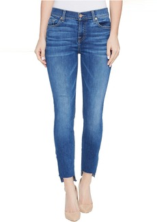 7 For All Mankind The Ankle Skinny Jeans w/ Step Hem in Bella Heritage