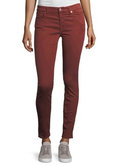 7 For All Mankind The Ankle Skinny Mid-Rise Cropped Jeans