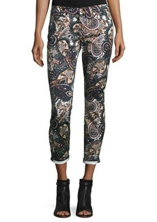 7 For All Mankind The Ankle Skinny Printed Jeans