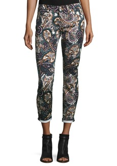 7 For All Mankind The Ankle Skinny Printed Jeans  Underground Paisley
